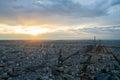Aerial view Paris Royalty Free Stock Photo