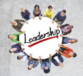 Aerial view of people and leadership concepts Stock Photo