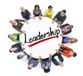 Aerial View of People and Leadership Concepts Royalty Free Stock Photo