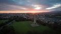 Aerial view. Phoenix park and Wellington Monument. Dublin. Ireland