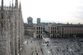 Aerial view of Piazza del Duomo - Milan Stock Photo