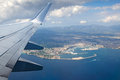 Aerial view from the plane Royalty Free Stock Photo
