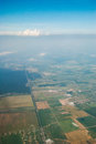 Aerial view from plane Royalty Free Stock Photo