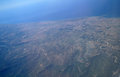 Aerial view from the plane of turkey Royalty Free Stock Photography
