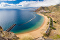 Aerial view of Playa de las Teresitas beach Royalty Free Stock Photo