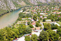 Aerial view on Pocitelj village. Royalty Free Stock Image