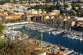 Aerial view on port of nice france french riviera Stock Images
