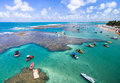 Aerial view of Porto de Galinhas beach located in Pernambuco State, Brazil Royalty Free Stock Photo
