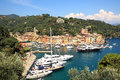 Aerial view on Portofino. Liguria, Italy. Stock Photos