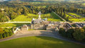Aerial view. Powerscourt gardens. Wicklow. Ireland Royalty Free Stock Photo