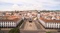 Aerial view of Praca da Republica in Ponta Delgada, Azores, Portugal.