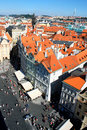 Aerial view of Prague center in Czech Republic Royalty Free Stock Photo