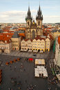 Aerial view of Prague, Czech Republic Royalty Free Stock Photo