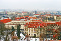Aerial view of prague czech republic Royalty Free Stock Images