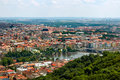 Aerial view on prague landscape of city center Stock Photos