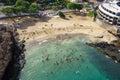 Aerial view of prainha beach in praia santiago capital of c cape verde islands cabo verde Royalty Free Stock Photography