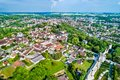 Aerial view of Provins, a town of medieval fairs and a UNESCO World Heritage Site in France Royalty Free Stock Photo