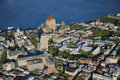 Aerial view of Quebec City Royalty Free Stock Photo