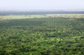 Aerial view of the Queen Elizabeth National Park Royalty Free Stock Images