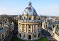 Aerial view of the radcliffe camera oxford uk a large circular building with a lofty dome was built by james gibbs between and Stock Image