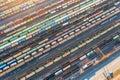 Aerial View Of Railroad Tracks...
