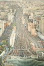 Aerial view of railways near monparnasse in paris the Stock Photo