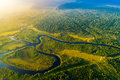 Aerial View of a Rainforest in Brazil Royalty Free Stock Photo