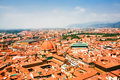 Aerial view of red roofs in Florence Royalty Free Stock Photo
