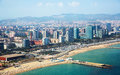 Aerial view of  Residence district at Mediterranean city. Barcel Royalty Free Stock Photo