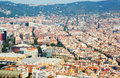 Aerial view  of  residence districts in european city. Barcelona Royalty Free Stock Photo