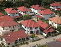 Aerial view of residential are Royalty Free Stock Photos