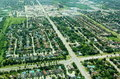 Aerial view of  residential area Stock Images