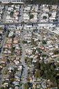 Aerial view of residential urban sprawl Royalty Free Stock Photo
