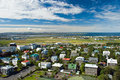 Aerial view of Reykjavik on Iceland Stock Photography