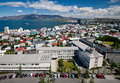 Aerial view of Reykjavik, Iceland Stock Photo