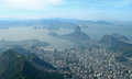 Aerial view of rio de janeiro brazil botafogo and the sugar loaf in Stock Images