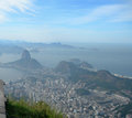 Aerial view of rio de janeiro brazil the city the olympiad photographed from the corcovado platform south america Stock Image