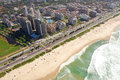 Aerial view of rio de janeiro brazil famous resorts and beaches in Royalty Free Stock Photo