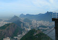 Aerial view of rio de janeiro brazil panorama photographed from the sugar loaf south america Royalty Free Stock Images