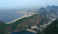 Aerial view of rio de janeiro brazil panorama photographed from the sugar loaf south america Royalty Free Stock Photography