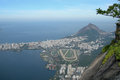 Aerial view of rio de janeiro brazil the race track lagoa and leblon in Stock Images