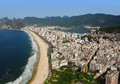 Aerial view of rio de janeiro brazil s famous beaches parks and cityscape Stock Images