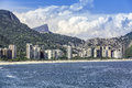 Aerial view of rio de janeiro with christ as background Stock Photography