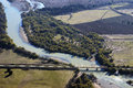 Aerial view of the river Royalty Free Stock Photo