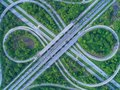 Aerial View, Road Roundabout, ...
