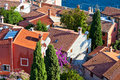 Aerial View from Rovinj Belfry, Croatia Stock Image