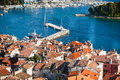 Aerial View from Rovinj Belfry, Croatia Royalty Free Stock Photo