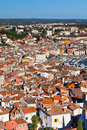Aerial View from Rovinj Belfry, Croatia Stock Images