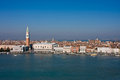 Aerial view of Saint Mark's square in Venice Stock Image