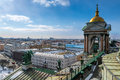 Aerial view of saint petersburg from isaac s cathedral Royalty Free Stock Photos